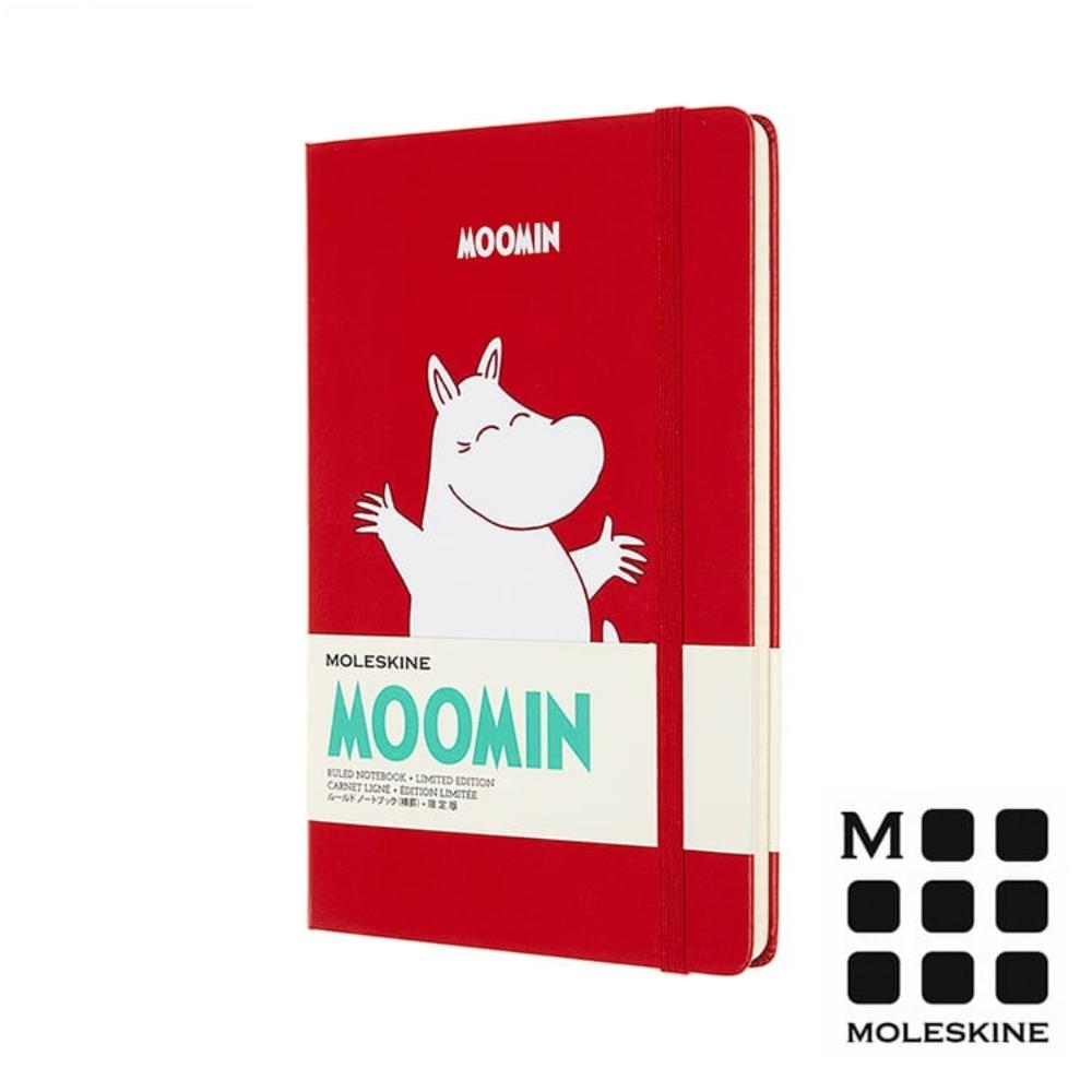 MOLESKINE 嚕嚕米Moomin 限定筆記本-紅