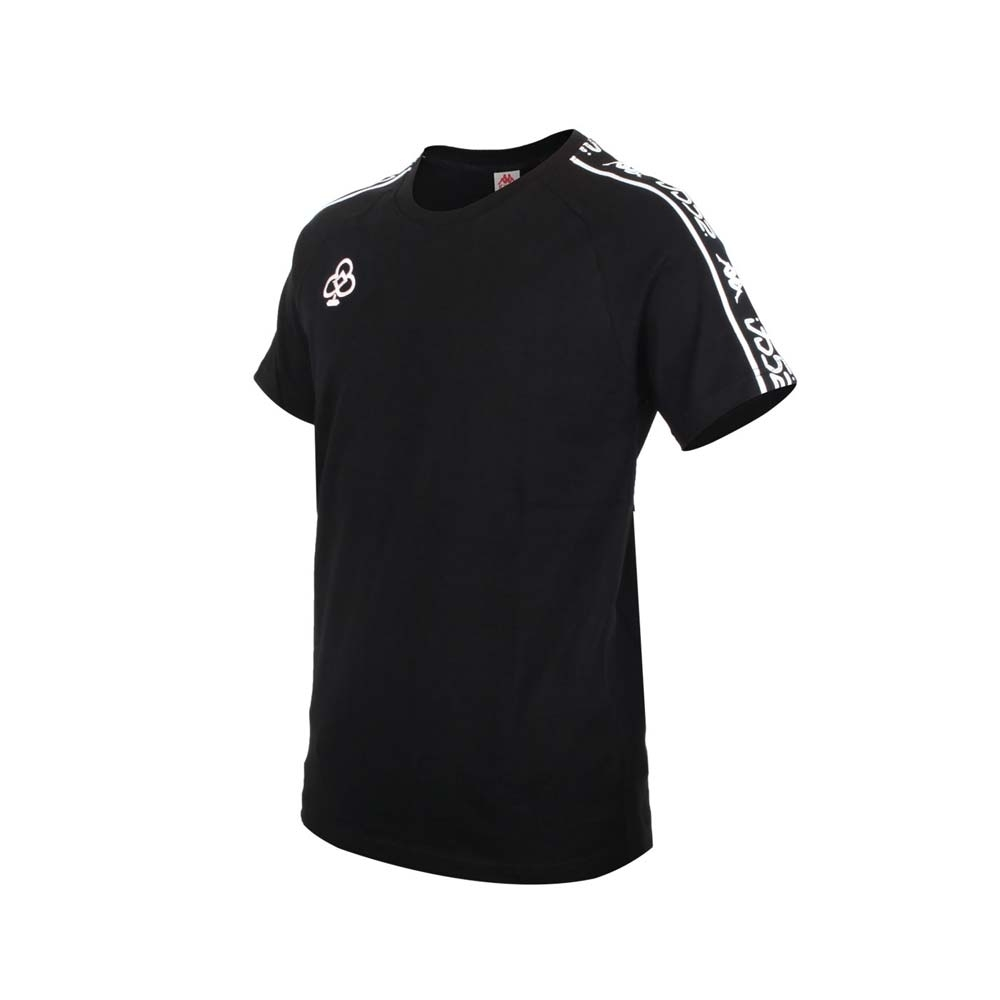 KAPPA DD52聯名男女短袖T恤-限量-菱格世代 純棉 台灣製 休閒上衣 33145CW-765 黑粉