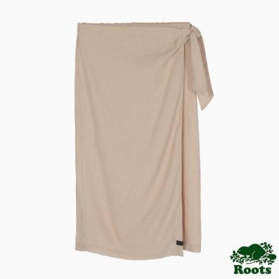 Roots 女裝- 摩登週間系列 綁帶亞麻長裙-米色