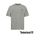Timberland 男款中麻灰後背品牌LOGO短袖T恤|A1XPF