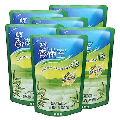 毛寶香滿室地板清潔劑(清新茶樹)補1800Gx6/箱