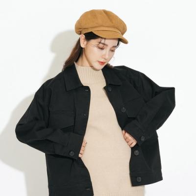 H:CONNECT 韓國品牌 配件 - 復古燈芯絨報童帽 - 棕