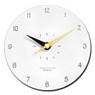 12吋 數字時標 居家擺飾 輕薄簡約 北歐 無印風 餐廳客廳臥室 靜音 圓掛鐘 - 白黃色