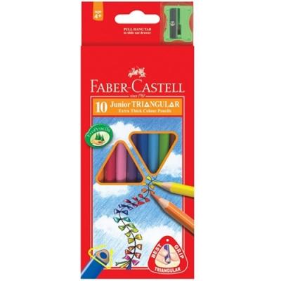 FABER-CASTELL 大三角色鉛筆 10色