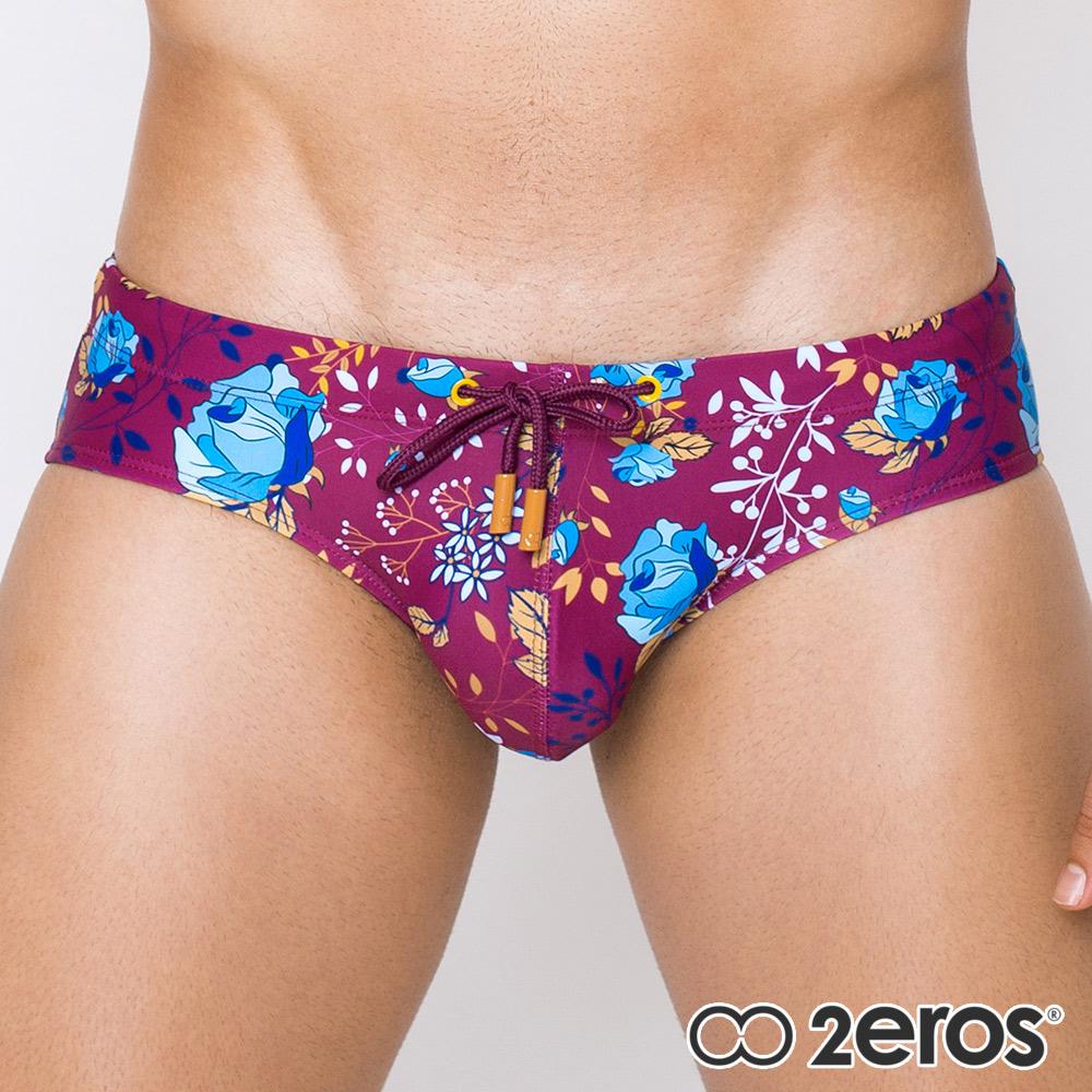 2EROS 午夜玫瑰時尚型男三角泳褲(紫色)