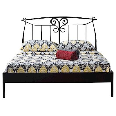品家居 艾爾5尺鐵製雙人床架(不含床墊+二色可選)-156x197x115cm免組