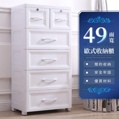 IDEA-歐式49面寬典雅收納櫃