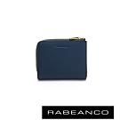 RABEANCO 歐系經典單拉鍊短夾 深藍