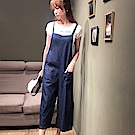 【白鵝buyer 】韓國製 單寧百搭吊帶褲(2色可選)