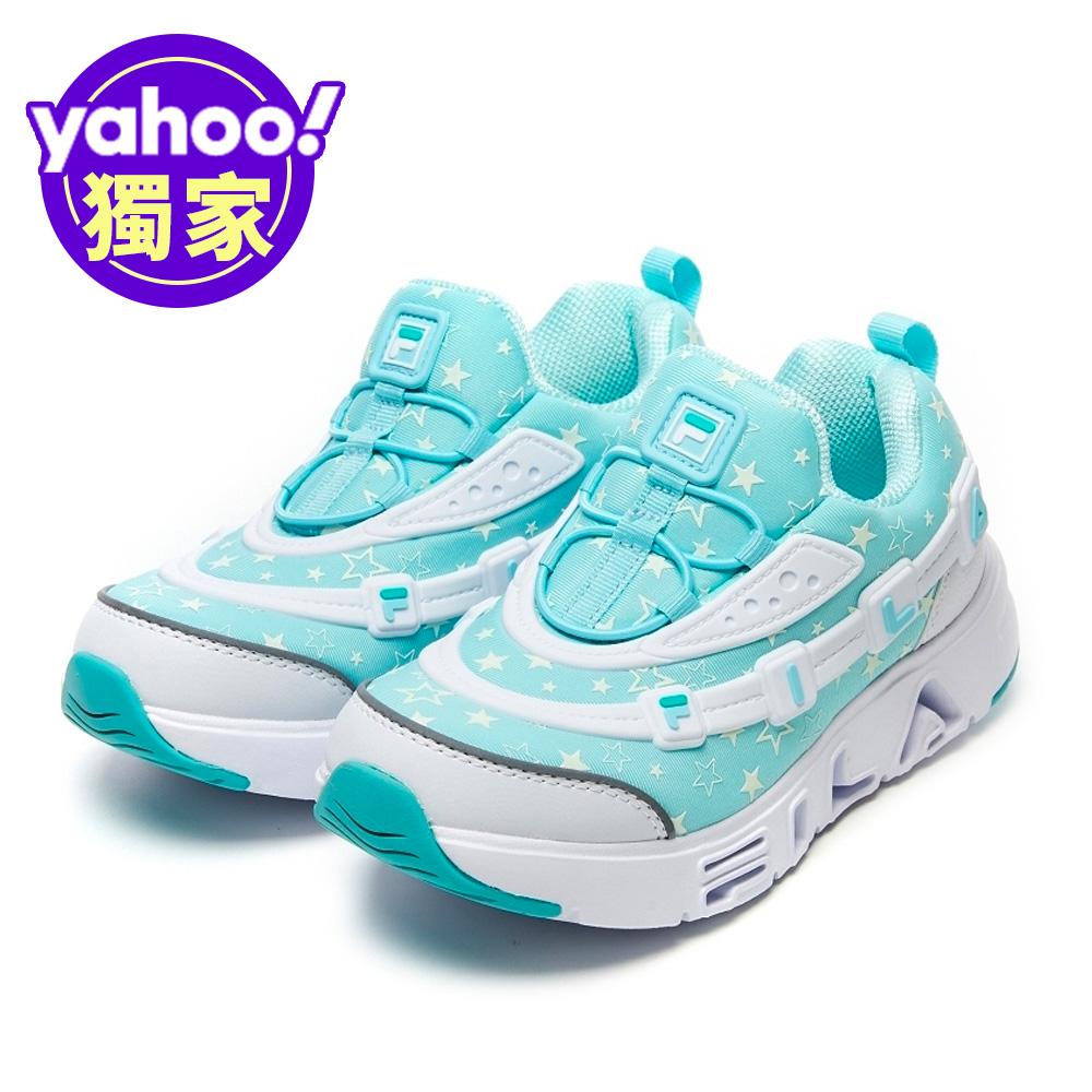 FILA KIDS GGUMI LIGHT STAR 中童運動鞋-藍綠 2-C143V-421