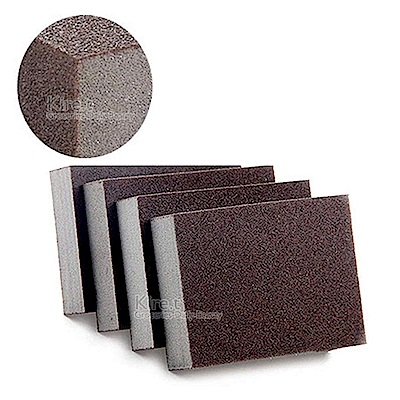 鐵銹 焦漬專用 神奇金剛砂海綿擦-細砂高密厚款 超值4入贈薄型金鋼砂 kiret
