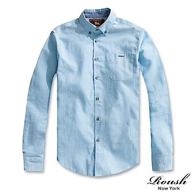 Roush 基本款亞麻素面襯衫(4色)