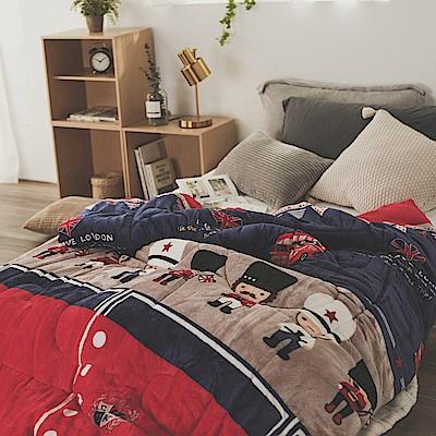 絲薇諾 MIT法蘭絨暖暖被-英國大頭兵-145×195cm