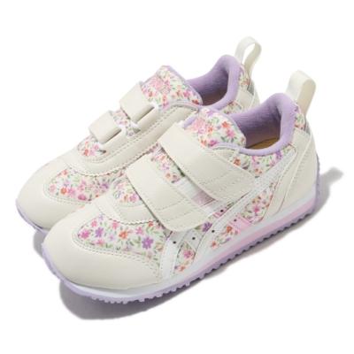 Asics 休閒鞋 Idaho Mini CT 3 童鞋 亞瑟士 魔鬼氈 花朵圖案 穿搭 中童 米 紫 TUM187500