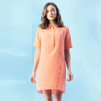 【ST.MALO】100%頂級天然蠶絲絲綢洋裝-1543WS-琉璃橘