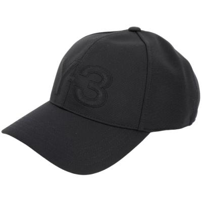 Y-3 LOGO刺繡設計黑色彈性纖維棒球帽