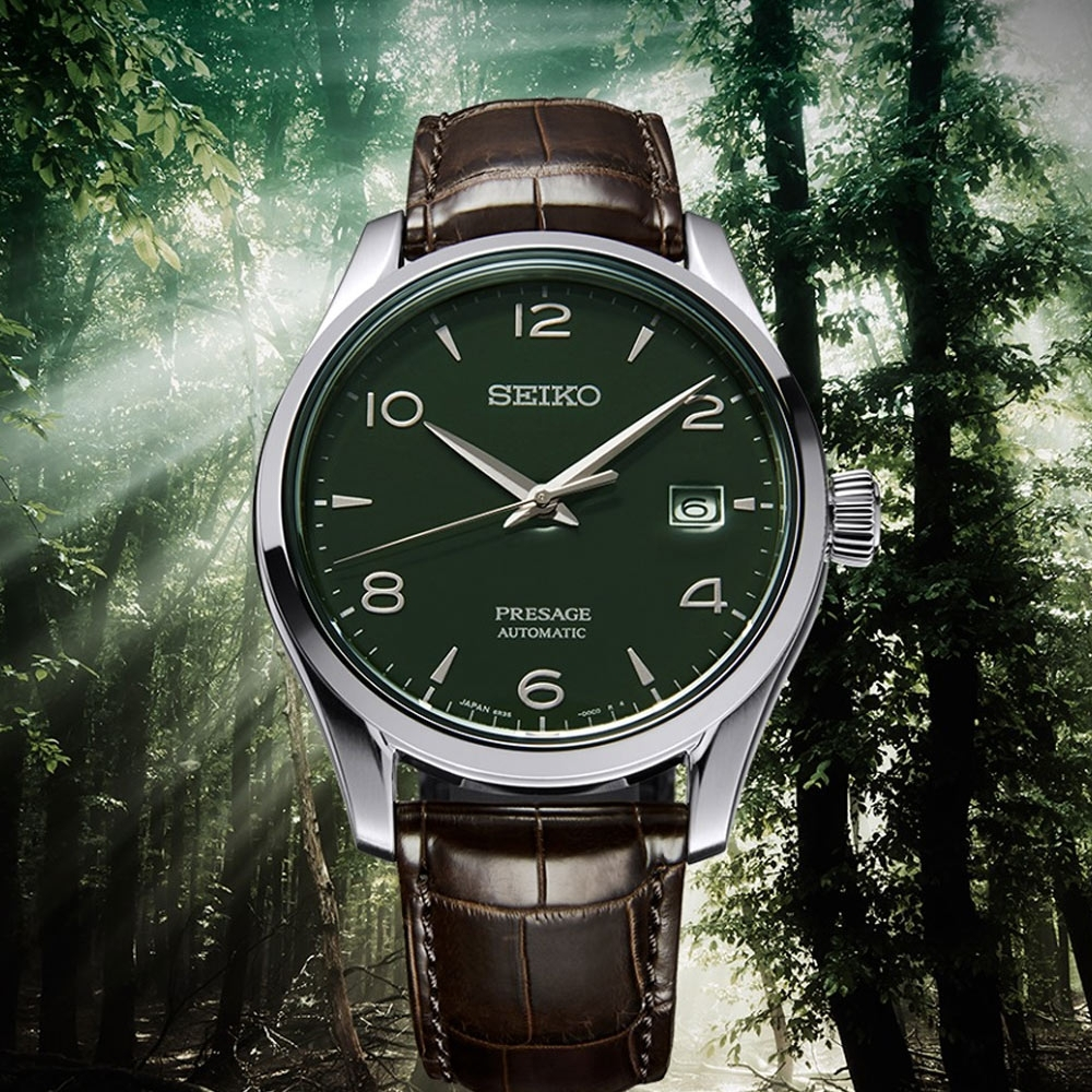 SEIKO Presage 綠色琺瑯錶盤限量版機械錶(SPB111J1)40mm