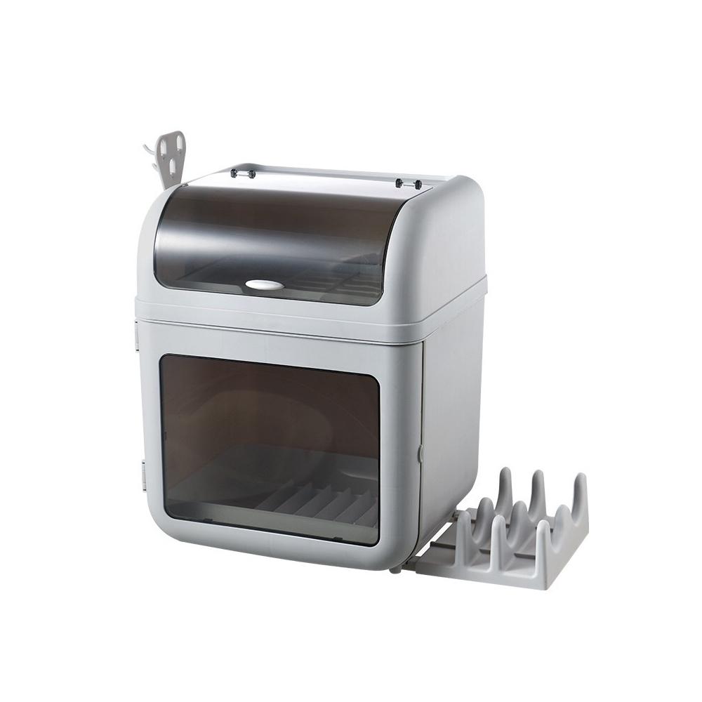 DaoDi第二代創新大容量碗盤瀝水架收納箱