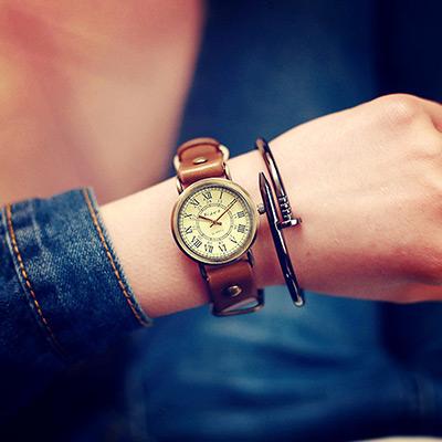 watch-123 月光雲畫-復古羅馬數字英倫風皮革手錶()