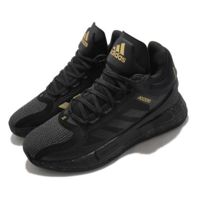adidas 籃球鞋 D Rose 11 運動 明星款 男鞋 包覆 支撐 飆風玫瑰 黑 金 FZ1544
