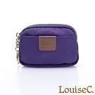 LouiseC. 尼龍簡約萬用零錢包/鑰匙包-紫色 16N37-0045A10