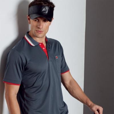 Abel Fox s Sports灰色男版短袖polo衫-AFQ109-16