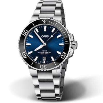 Oris豪利時Aquis時間之海300米潛水錶-39.5mm/藍
