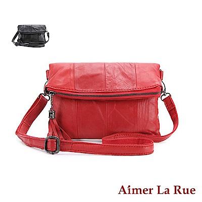 Aimer La Rue 側背包 羊皮氣質流蘇系列(二色)