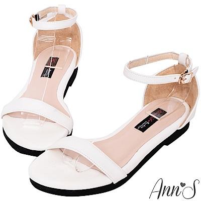 Ann'S無極限的重複穿搭-極簡平底涼鞋-白