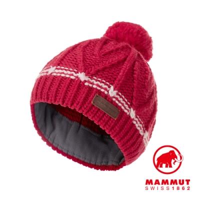 【Mammut 長毛象】Sally Beanie 保暖針織毛球羊毛帽 火龍果 #1191-00430
