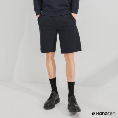 Hang Ten-男裝-REGULAR FIT經典彈性短褲-深藍色