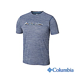 Columbia哥倫比亞男款-UPF30涼感快排短袖上衣-深藍UAE64630NY