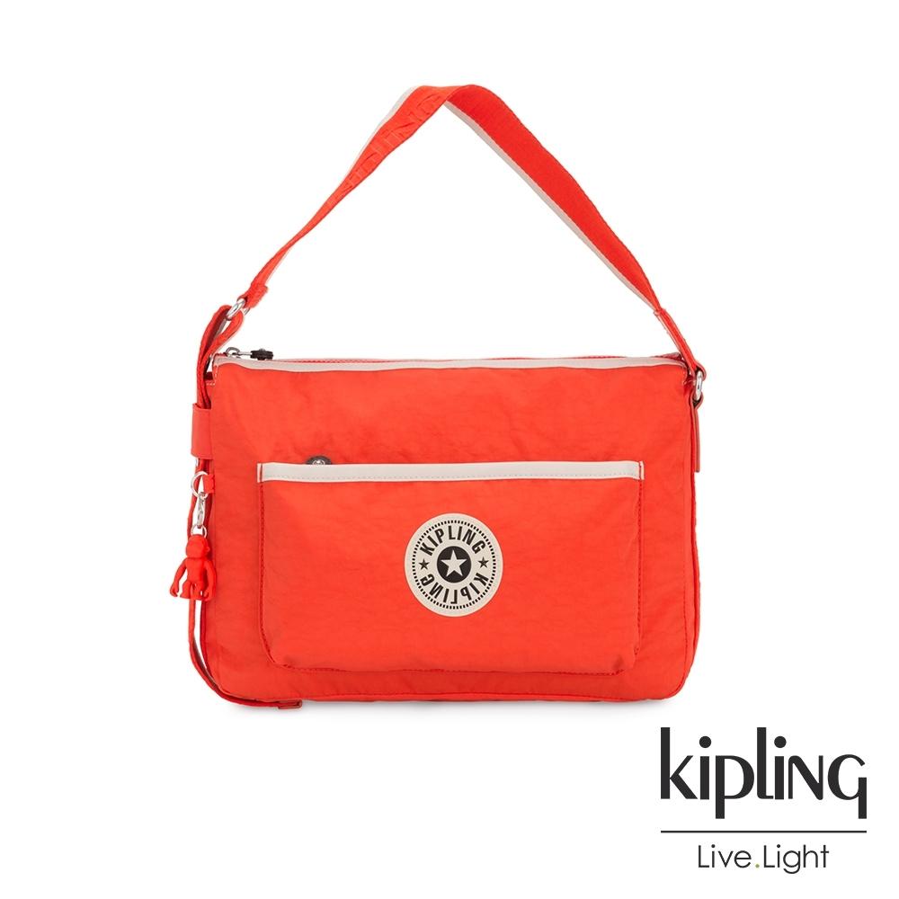 Kipling 焦點氣勢紅簡約隨身肩背包-ERNA