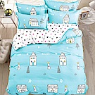 A-one - 雙人床包+枕套二入 小兔的家 雪紡棉磨毛加工處理 台灣製
