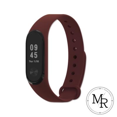 MR 小米手環3/4通用單色矽膠運動替換錶帶