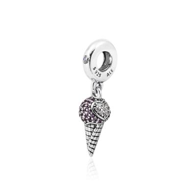 Pandora 潘朵拉 璀璨寶石冰淇淋 垂墜純銀墜飾
