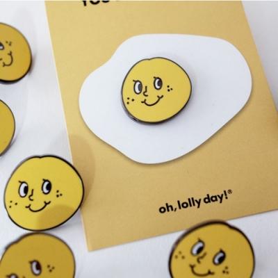 oh lolly day 炫耀小徽章-黃色橘子