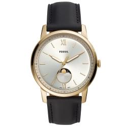 FOSSIL Minimalist月相真皮手錶(FS5571)-銀