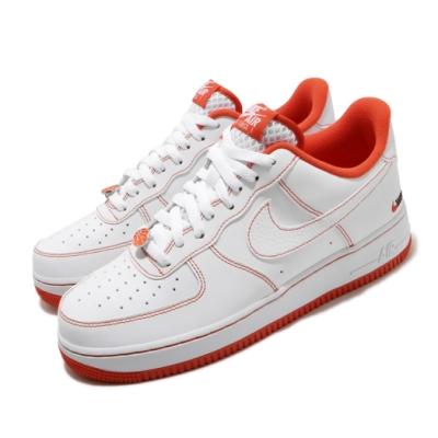 Nike 休閒鞋 Air Force 1 07 LV8 男鞋 經典AF1 街頭籃球 穿搭 電繡logo 白 橘 CT2585100