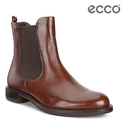 ECCO SHAPE 25 經典帥氣切爾西短靴 女-酒紅