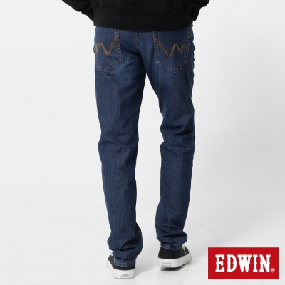 EDWIN 大尺碼迦績褲JERSEYS織帶AB褲-男-酵洗藍