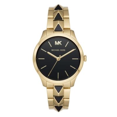 Michael Kors龐克搖滾個性腕錶-金X黑(MK6669)/38mm
