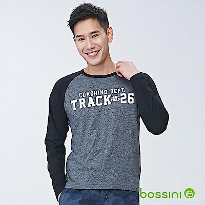 bossini男裝-圓領長袖上衣03黑
