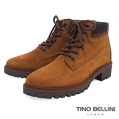 Tino Bellini 義大利進口率性氣息個性綁帶短靴 _ 棕