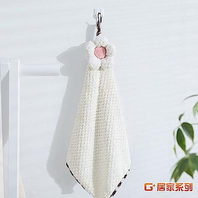 【G+居家】超細纖維造型擦手巾(小花格紋-米白)
