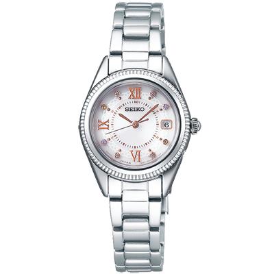 SEIKO精工 VIVACE 太陽能電波 時尚手錶 SWFH061J-銀/25mm