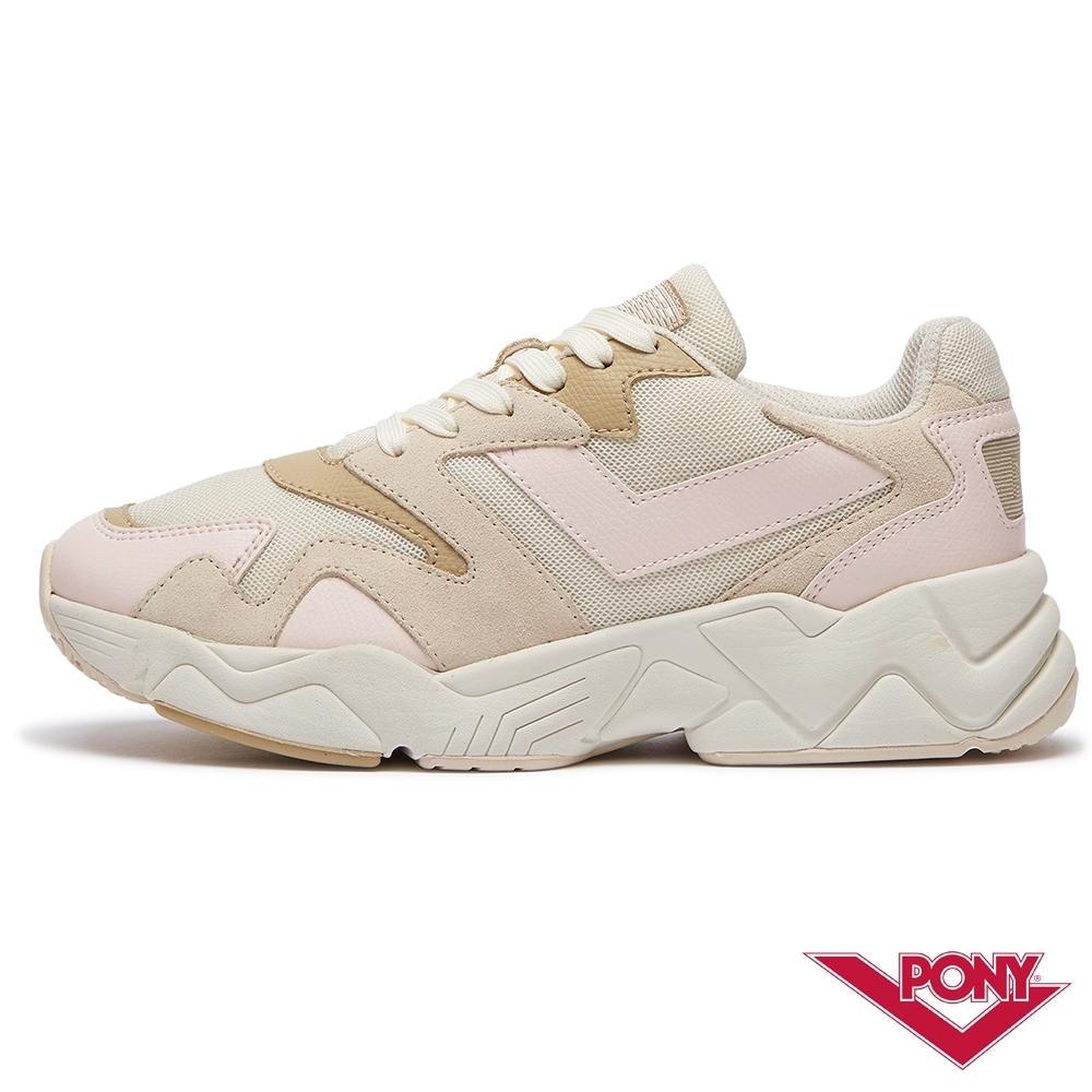 【PONY】MODERN 2系列-玩轉撞色潮流運動鞋 老爹鞋 球鞋 女款 米黃粉