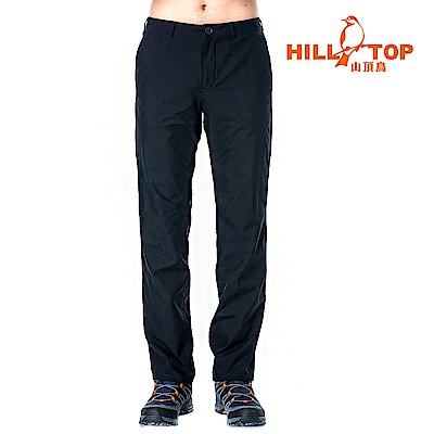 【hilltop山頂鳥】男款Windstopper防小雨抗風長褲H31MK9媒黑