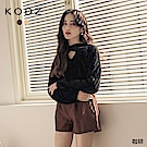 東京著衣-KODZ 甜美休閒高腰後鬆緊A字型短褲-M.L(共二色)