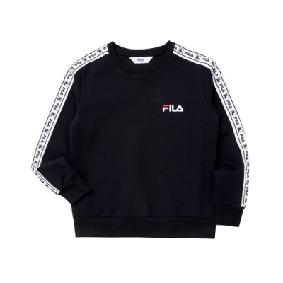FILA KIDS #日潮攻略首部曲 童長袖上衣-黑色 1TEU-4429-BK